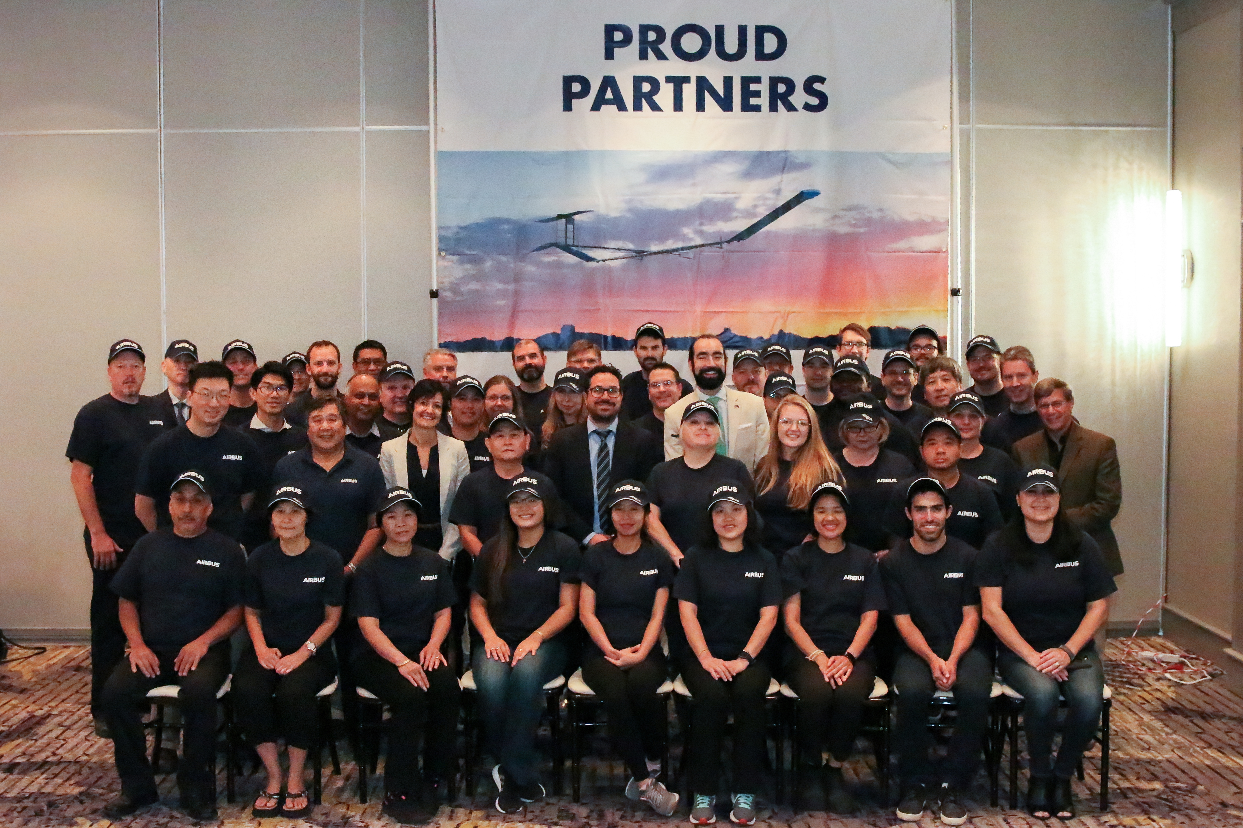 Airbus representatives and MicroLink employees